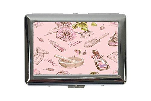 Zigarettenetui Box Nostalgie Rose Parfüm Bedruckt