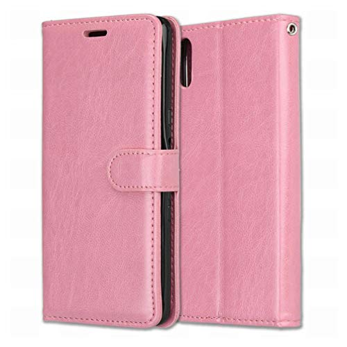 Laybomo Handyhülle für Sony Xperia L3 Hülle Ledertasche Weiches Gummi Silikon TPU Haut Beutel Schützend Stehen Bilderrahmen Brieftasche Schale Tasche Schuzhülle für Sony Xperia L3 (Rose)