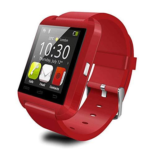 De Moda de U8 Reloj Inteligente Bluetooth Smartwatch U80 para el iPhone 6/5S Samsung S6/Nota 4 HTC Android Teléfono teléfonos Inteligentes Android (Rojo)