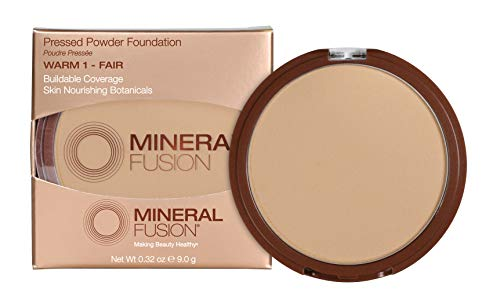 Mineral Fusion Pressed Powder Foundation, Warm 1 , 0.32 Ounce