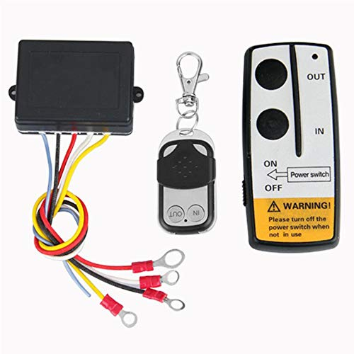 Best Price Yuangang Universal Wireless Winch Remote Control Kit 12V 50ft 2 Remotes with Indicator Li...