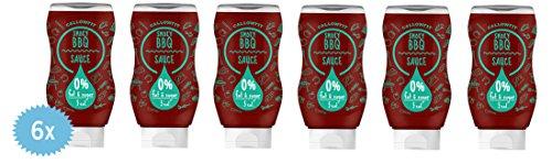 Callowfit Low Carb Sauce 0% Fat & Zucker - Diätsoße Box á 6x BBQ