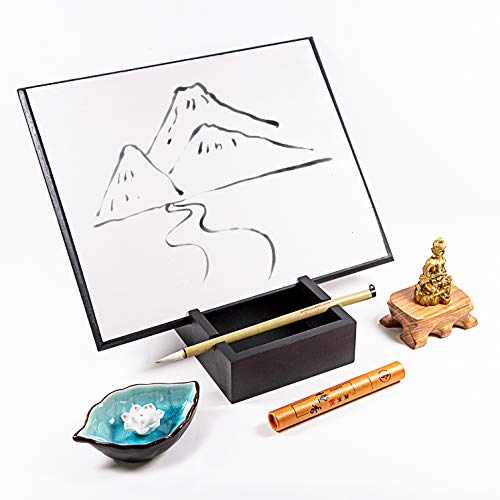 Meditation Gifts Drawing Board with Buddha- Relaxation Gifts Zen Gifts Zen Board– Office Home Zen Decor Zen Garden - Relaxing Art Water Painting Board - Unique Stress Relief Gifts for Adults
