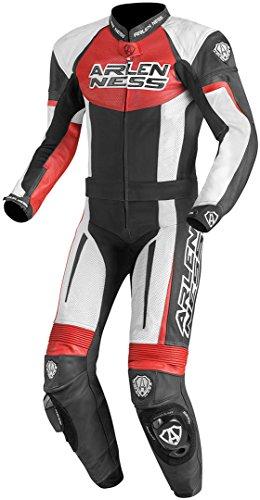 Arlen Ness Monza Tuta in pelle moto a due pezzi 48 Nero/Bianco/Rosso