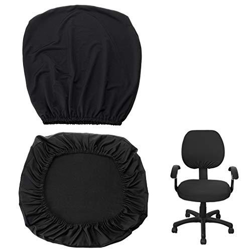 Coprisedia elasticizzato separato e rimovibile BTSKY, in stile semplice e moderno, per sedie da ufficio girevoli con braccioli (sedia non inclusa)