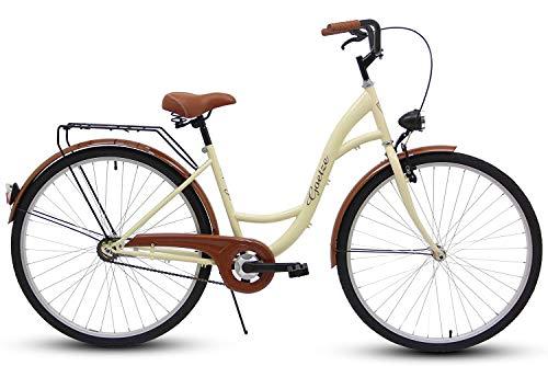 Polbaby GOETZE 28″ 1B ECO,Fahrrad, Citybikes, Stadtrad Retro Vintage Cream