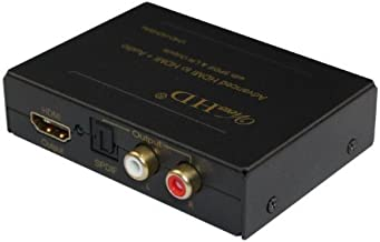 ViewHD HDMI Audio Receiver Extractor   Optical Toslink + L/R Stereo Analog Converter Outputs   1080P 3D   Model: VHD-H2HSAs / VHD-H2HSAi