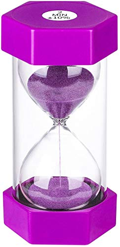 Sand Timer 2 Minute Hourglass Timer, Colorful Sand Watch 2 Min, Small Purple Sand Clock 2 Minute, Plastic Hour Glass Sandglass Timer for Kids, Games, Classroom, Kitchen, Toothbrush Timer, Decoration