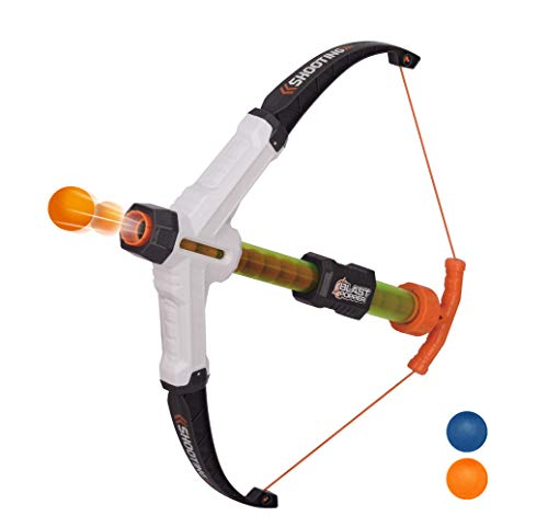 Ao Jie Cross Popper Cross Bow Air Powered Popper with 20 Foam Balls Ideal Gift for 6,7,8,9,10 yrs Old Kids Role Play