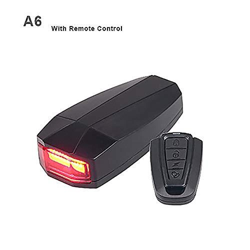 LED-fiets-batterijverlichtingsset, 3 in 1 fiets veiligheidsslot draadloos alarm diefstalbeveiliging afstandsbediening, motorfiets diefstal alarminstallatie, waterdicht en super luid, zwart