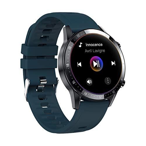 Reloj inteligente de música Z08s deportes podómetro en tiempo real frecuencia cardíaca Bluetooth llamada reloj (verde)