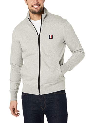 Tommy Hilfiger Herren Sweatjacke Tommy Logo Zip Through Grau S