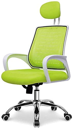 Silla giratoria de ordenador silla - silla del acoplamiento silla personal silla de oficina silla de oficina en casa transpirable con reposacabezas,Green