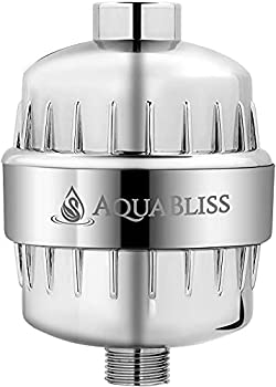 AquaBliss High Output Revitalizing Shower Filter - Reduces Dry Itchy Skin Dandruff Eczema and Dramatically Improves The Condition of Your Skin Hair and Nails - Chrome  SF100