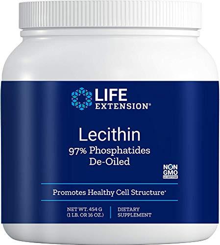 Life Extension Lecithin (97% Phosphatides De-Oiled), 16 Ounces