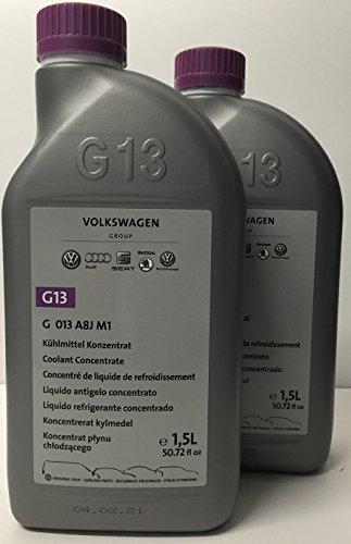 2 X Liquido anticongelante/refrigerante Puro G13 Original Vokswagen envases de 1.5 LTS (cantidad:3 litros)
