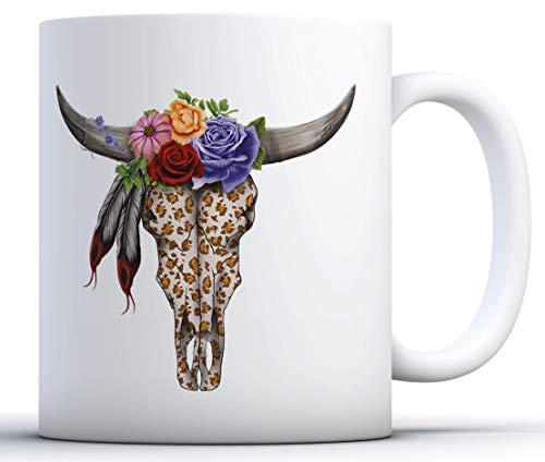 NA Taza con Calavera de Vaca. Taza de café con Calavera de Vaca. Taza de té de Vaca. Regalos de Calavera