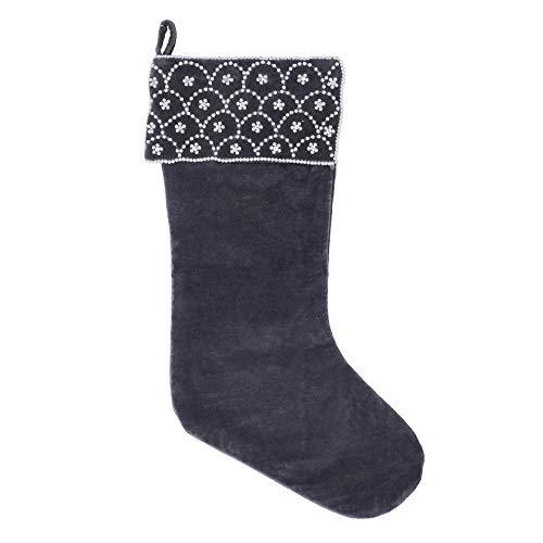 "Vickerman Blue Pearl Textile Collection Christmas-Decor, 8"" x 19"" -  QTX17342"