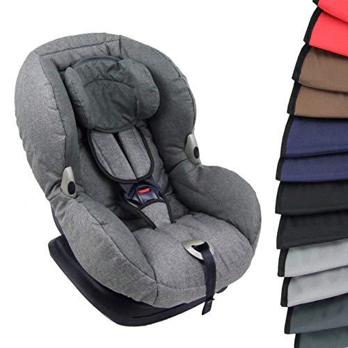 BAMBINIWELT Gurtpolster + Schrittpolster für Kinder Autositz von Maxi-Cosi universal GRUPPE 1 (schwarz) XX