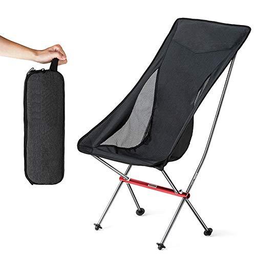 JHKJ Silla Plegable para Picnic, Silla Plegable Portátil para Acampar Portátil para Exteriores, Compacta, con Respaldo Lumbar, Resistente 300 LB