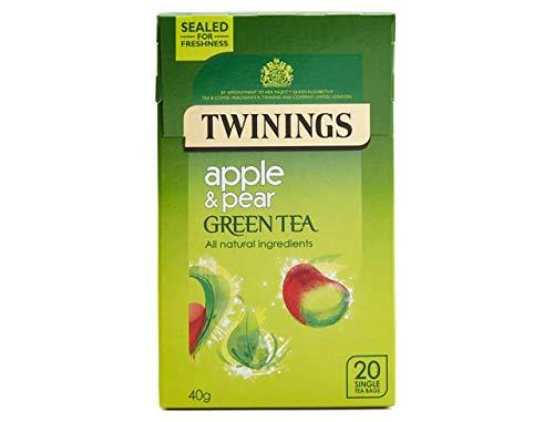 Twinings pomme et poire Vert Thé 20 Par Paquet (Lot de 6)