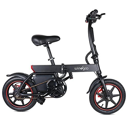 Windgoo Bicicletta Elettrica B20 36V 6.0AH 350W Nero Portatile E-bike Bici Blettrica Pieghevole