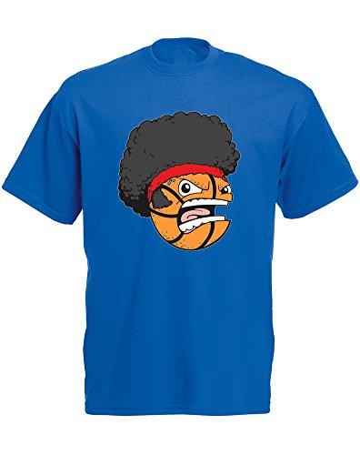 Brand88 - Camiseta para hombre, diseño de cabeza de cesta, color azul