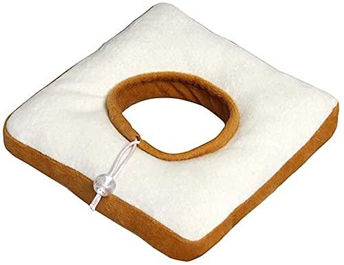 WSYGHP Collier de récupération Anti-Rayures pour Animaux de Compagnie Toast Elizabéthancollar Fournitures pour Animaux de Compagnie Collier pour Chien (Color : White, Size : S)