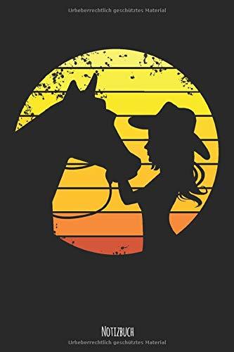 Notizbuch: Westernreiten Westernreiterin mit Pferd nach dem Reiten 120 Seiten, ca.DIN A5 praktisches Dotgrid Notizbuch für Westernreiterinnen