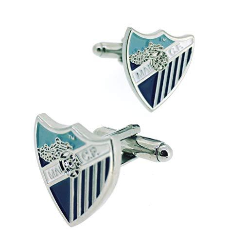Gemelolandia | Gemelos para Camisa Málaga Club de Fútbol Gemelos Originales Para Camisas | Para Hombres y Niños | Regalos Para Bodas, Comuniones, Bautizos y Otros Eventos