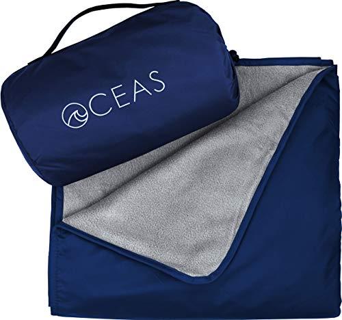 Oceas Outdoor Waterproof Blanket Warm Fleece Great for Camping, Outdoor Festival, Beach,...