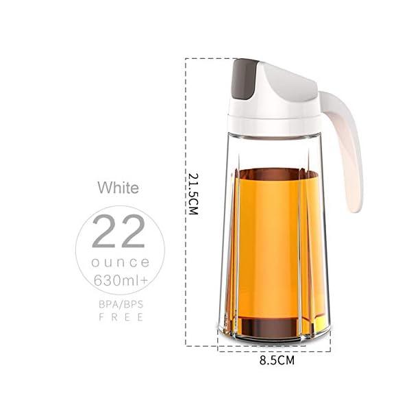 Dispensador de aceite estilo King Style, botella de vidrio de aceite de