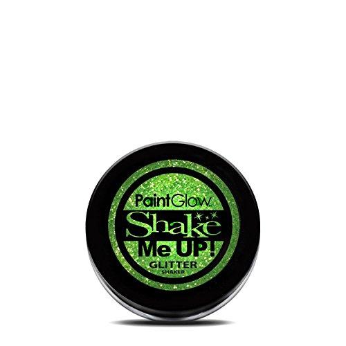 PaintGlow UV Blacklight Reactive Face and Body Glitter Shaker (Mint Green)