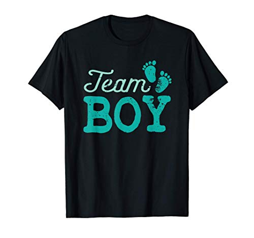 Team Boy Cute Baby Shower Gender Reveal Party Camiseta
