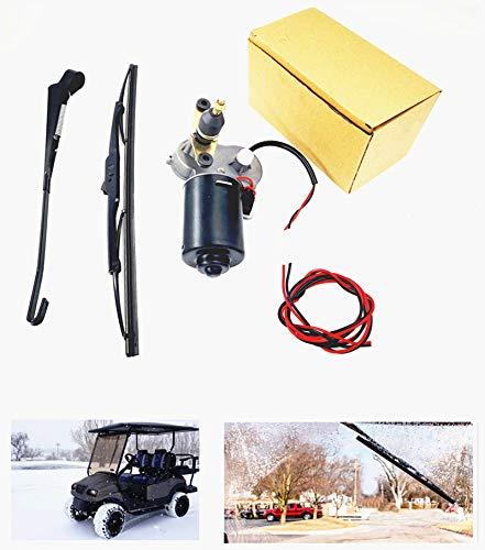 YiCross 12V 30W Universal Electric Windshield Wiper Motor Kit Fits Hard Coated Or Glass Windshields,Standard Wiper Motor Kit - 110° Sweep, 11.8