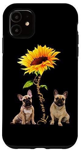 iPhone 11 You Are My Sunshine French Bulldog Sunflower Dog Mom Gift Case