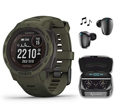 Garmin Instinct Solar Tactical Edition Premium GPS Smartwatch with...