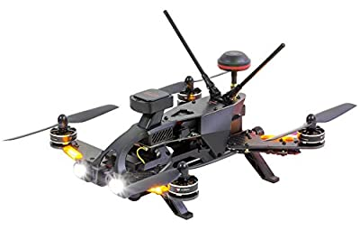 Walkera 15004660–250Pro Racing Quadrocopter RTF FPV Drone with Full HD Camera, GPS, OSD, Battery, Charger and Devo 7Transmitter