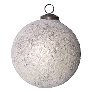 "Add to this year's tree for an extra special touch Include in a tabletop decoration for extra flare Hang on the handle of a cabinet 5""L x 5""W x 5""H"