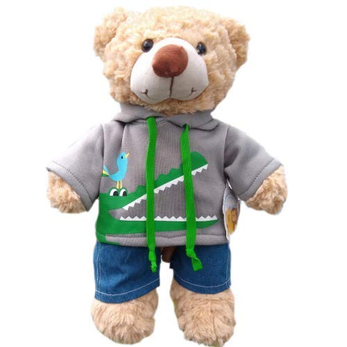 40cm Krokodil Kapuzenpullover - Teddy Outfit Kleidung - Teddybär Nicht enthalten
