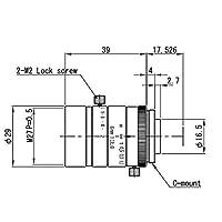 VS Technology VS-0620VM 1/1.8インチ 6mm F2.0 手動アイリスCマウントレンズ 5メガピクセルの定格