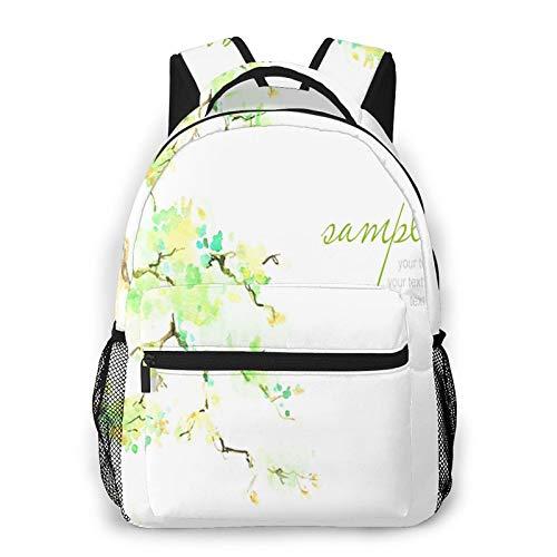 USGYY Rucksack Männer Und Damen Ast Bonsai Bäume, Laptop Rucksäcke, Kinderrucksack Schulrucksack Daypack für Jungen Mädchen