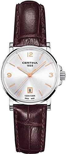 Certina AV-06 C017.210.16.037.01 - Reloj para Mujeres, Correa de Cuero Color marrón