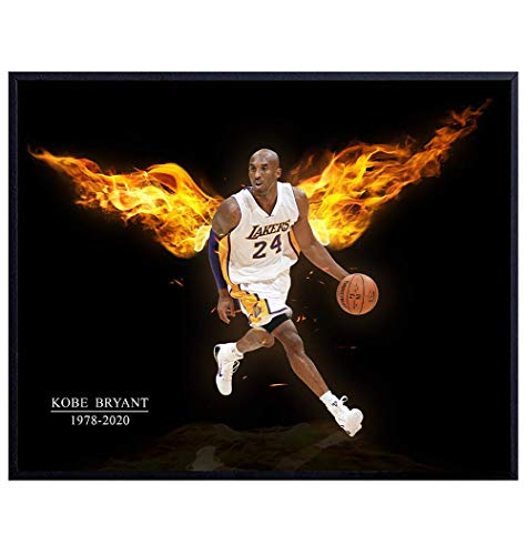 Kobe Bryant Wall Art Decor - Kobe Bryant Poster - 8x10 Kobe Bryant Memorabilia - Cool Unique LA Lakers, Basketball Gifts for Men, Coach, Boys - Home Decoration, Wall Decor for Bedroom, Living Room