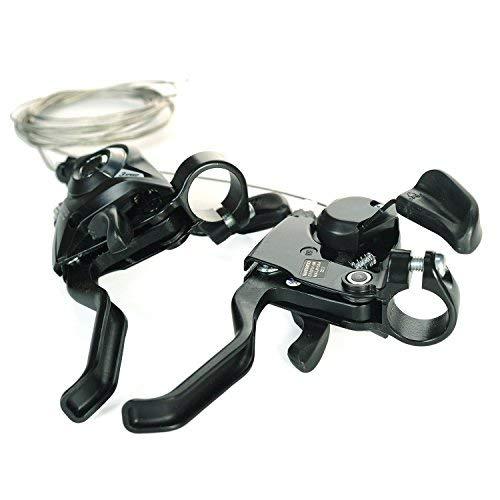 Lizac Shimano Schalthebel V Brake ST EF51 Set, Schalthebel Bremshebel mit Bremskabel, 8 Fach Gangschaltung Bremskombination mit Ganganzeige für V Brake, schwarz(L3×R8 Gänge) - 6