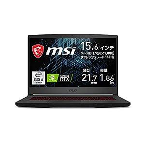【Amazon.co.jp 限定】MSI NVIDIA最新RTX3060搭載ゲーミングノートPC GF65 1.86Kg i5 RTX3060/15.6FHD/144Hz/16GB/512GB/GF65-10UE-063JP