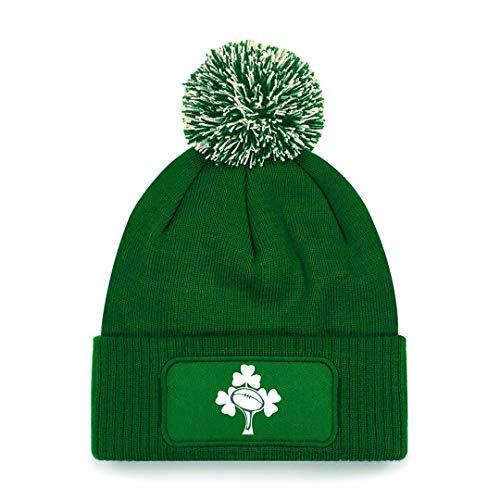 Irlanda Rugby Bobble Beanie Sombrero Verde