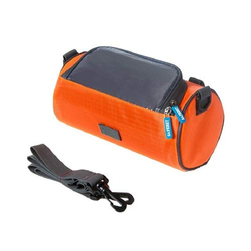YMSWTF Große Fahrradtaschen Lenker vorne Rohr wasserdichte Fahrrad-Telefon-Beutel-Touch-Screen-Pack for Studenten Frauen-Mädchen-Accessoires Radfahren (Color : Orange)