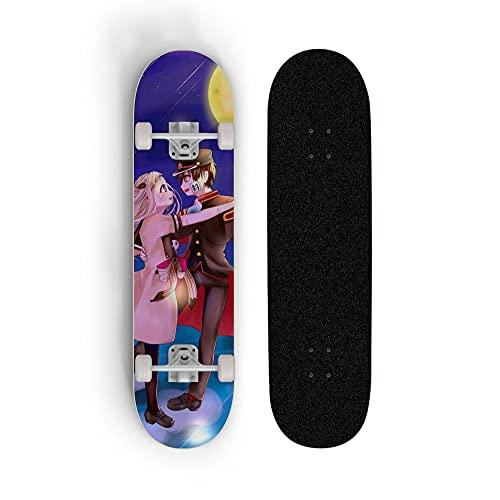 Dmxiezib Placa Corta de animación, rockero Doble de Cuatro Ruedas, Hana-kun de Inodoro: Yahiro Nene, Siete Capas de Arce, patineta Doble