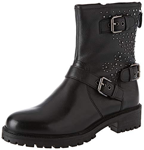 Geox Damen D HOARA H Biker Boots, Schwarz (Black C9999), 40 EU